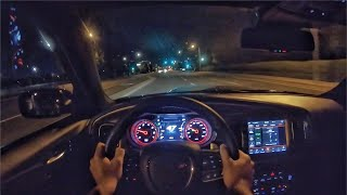 2020 Dodge Charger 392 Scat Pack Widebody POV Night Drive (3D Audio)(ASMR)