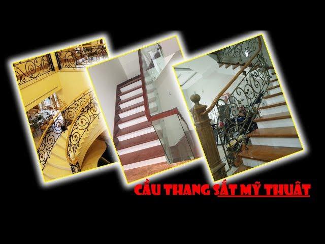 Cầu thang sắt mỹ thuật gì mà đẹp vậy trời | sắt nghệ thuật Hà Nội