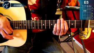 "Cómo tocar ""Boulevard of Broken Dreams"" de Green Day en guitarra (HD) Tutorial - Christianvib"