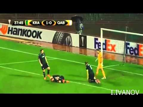 Krasnodar Gabala 2: 1 Highlights 01/10/2015. UEFA Europa League. 01/10/2015