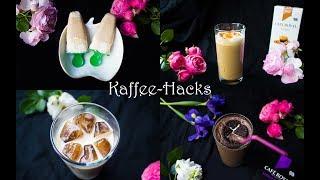Sommerliche Kaffee-Hacks und Rezepte ☕️🍨🎂 Nutella Frappuccino | Caramel Macchiato | Kaffee Nicecream