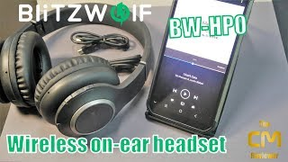 BlitzWOLF BW-HP0 Test: Wireless on-ear headset - Bluetooth Kopfhöre...