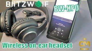 BlitzWOLF BW-HP0 Test: Wireless on-ear headset - Bluetooth Kopfhöre...