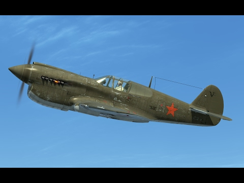 IL-2:Battle of Moscow. P-40E Kittyhawk on Eastern Front.