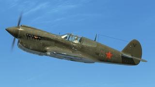 IL-2:Battle of Moscow. P-40E Kittyhawk on Eastern Front.