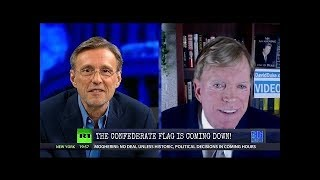 David Duke vs  Thom Hartmann  The Confederate Flag