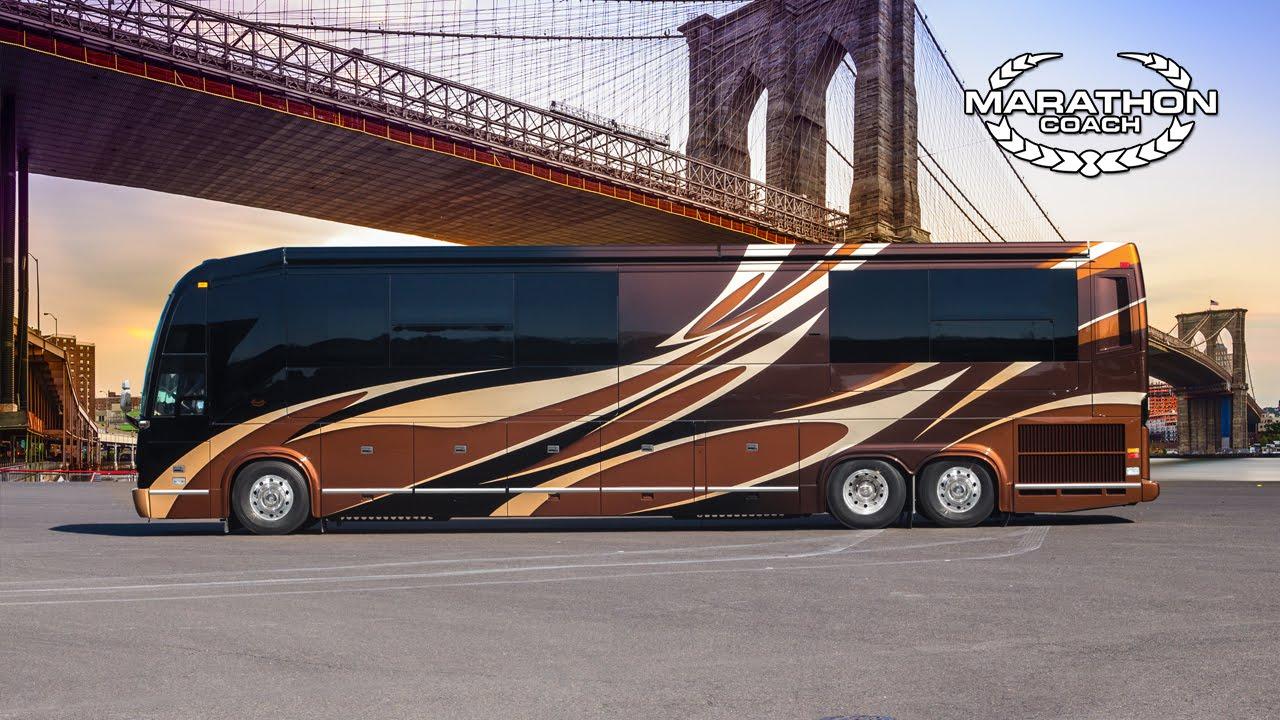 Prevost Motor Coach >> Marathon Coach Custom Coach 1247 Prevost H3 45 Double Slide