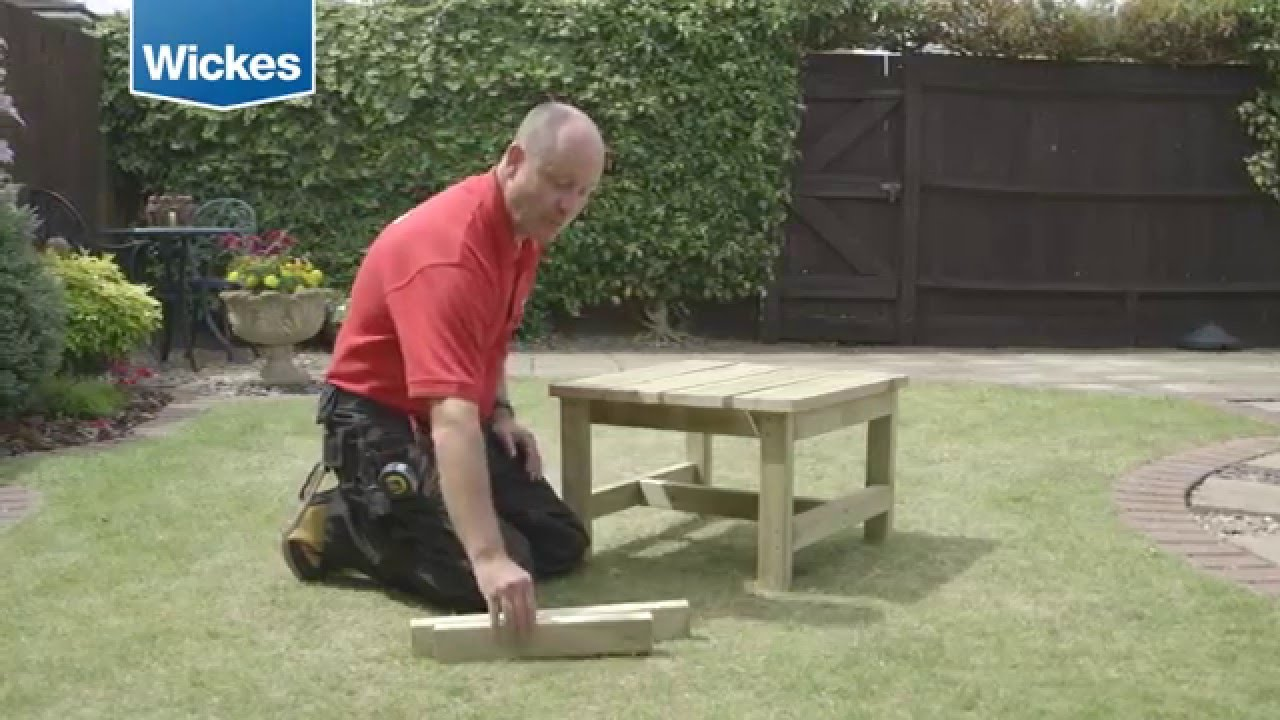 How To Build A Garden Bench And Table Wickes Youtube