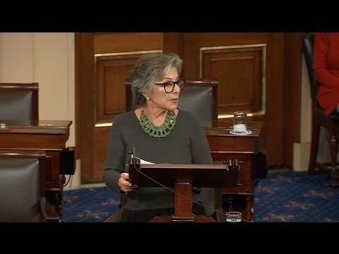Raw Video: Barbara Boxer Bids Farewell To U.S. Senate