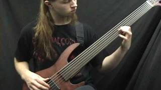 Obscura Anticosmic Overload on bass guitar