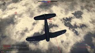 War Thunder || F4U-4B Vs A Pair Of Tempests And A Spitfire At High Alt In RB.