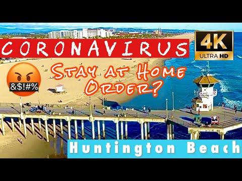 Corona Virus Huntington Beach |  Or Stay At Beach Order🤷♂️Orange County | California