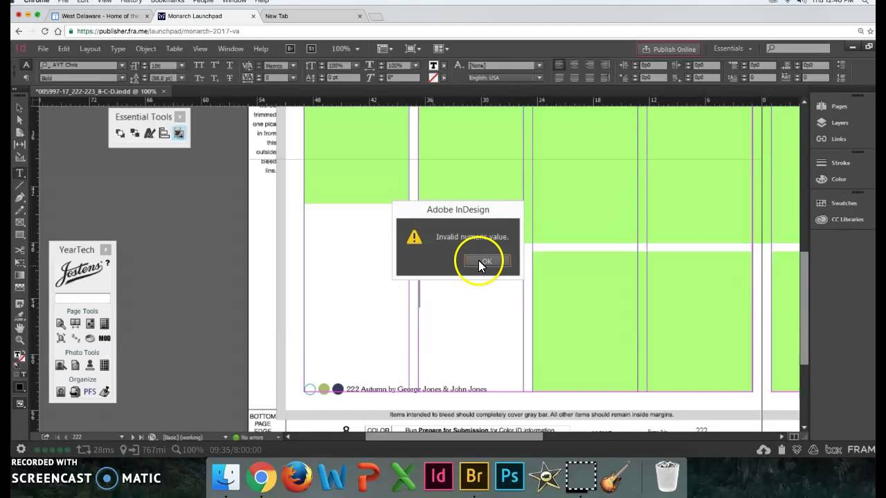 Basic Yearbook Layout Indesign Skills Video 2