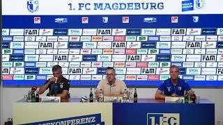 Pressekonferenz vor dem Spiel 1. FC Magdeburg gegen FC St. Pauli