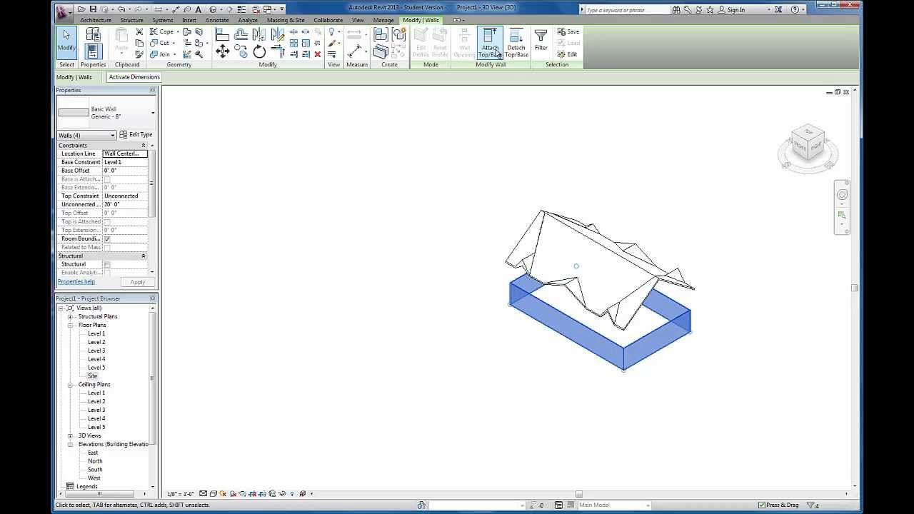 Revit Tutorials Custom Gable Roof Using Slope Arrows