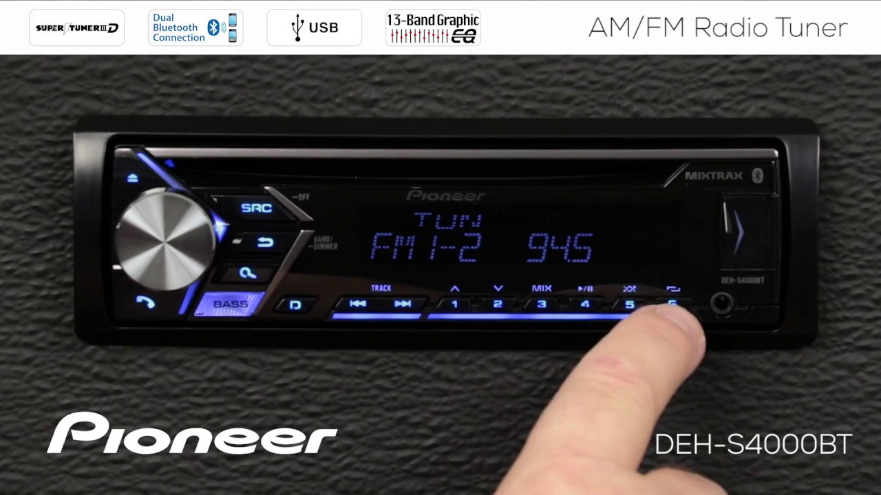 how to am fm radio tuner on pioneer in dash receivers 2018 [ 1280 x 720 Pixel ]