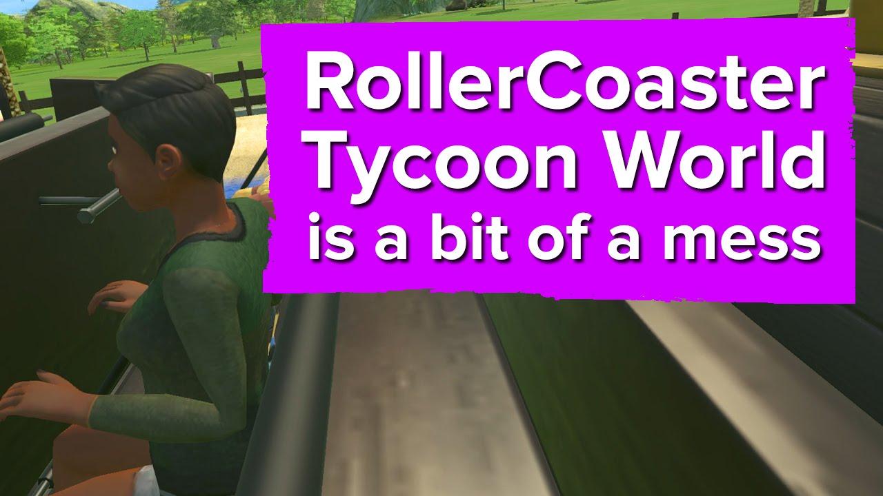 How bad exactly is Atari's Rollercoaster Tycoon World