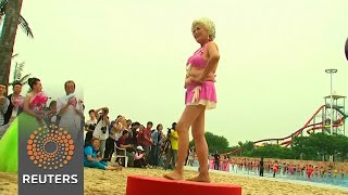 An exclusively over 55 bikini contest in China