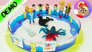 PLAYMOBIL basen ze zwierzętami morskimi Family Fun 9063 - Morskie Akwarium - Budowanie & Demo