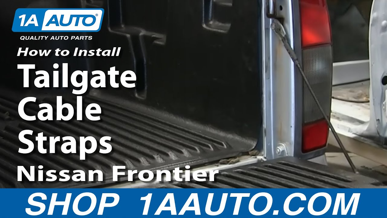 How to install replace tailgate cable straps 1998 04 nissan frontier