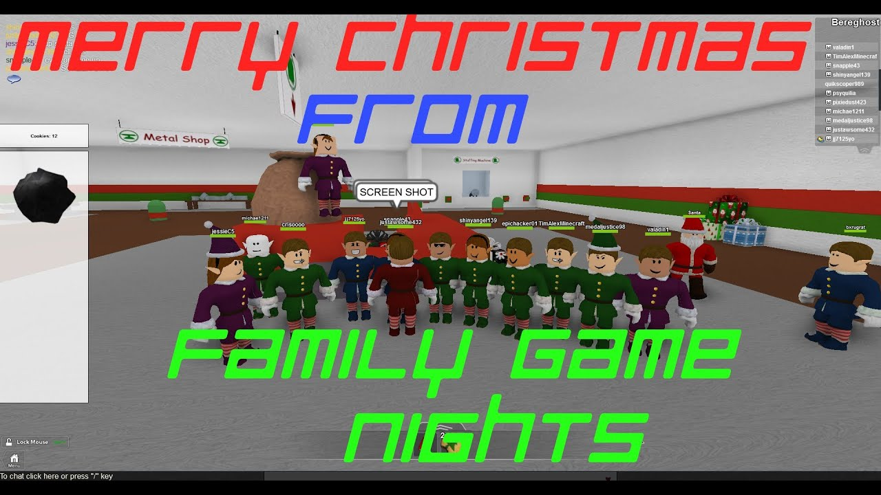 Roblox: Christmas Rush w/Family Game Nights - YouTube