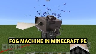 How to make a FOG MACHINE IN MINECRAFT POCKET EDITION