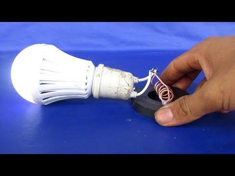Free energy generator with light bulbs using magnets - Simple project at home 2018
