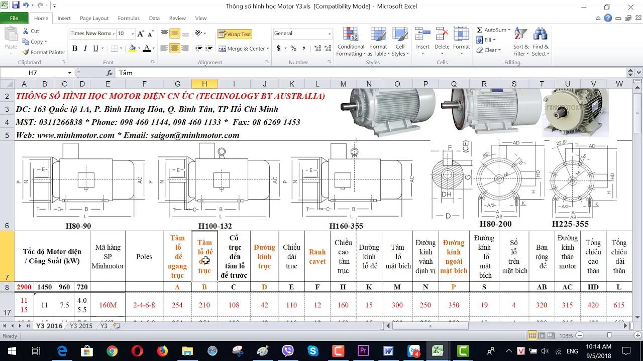 Bản vẽ kỹ thuật động cơ điện 15 kw 20 HP 2900 vòng phút, MINHMOTOR 0968140191 .