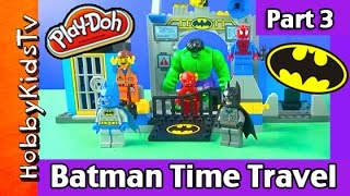 Batman Time Travel Part 3: Play-Doh Smash! HobbyKidsTV
