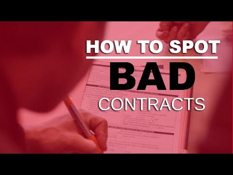 How to Spot a Bad Contract -Music scam