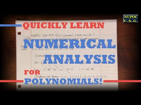 NUPOC VSG #17 -  Find Polynomial Roots with Numerical Analysis!