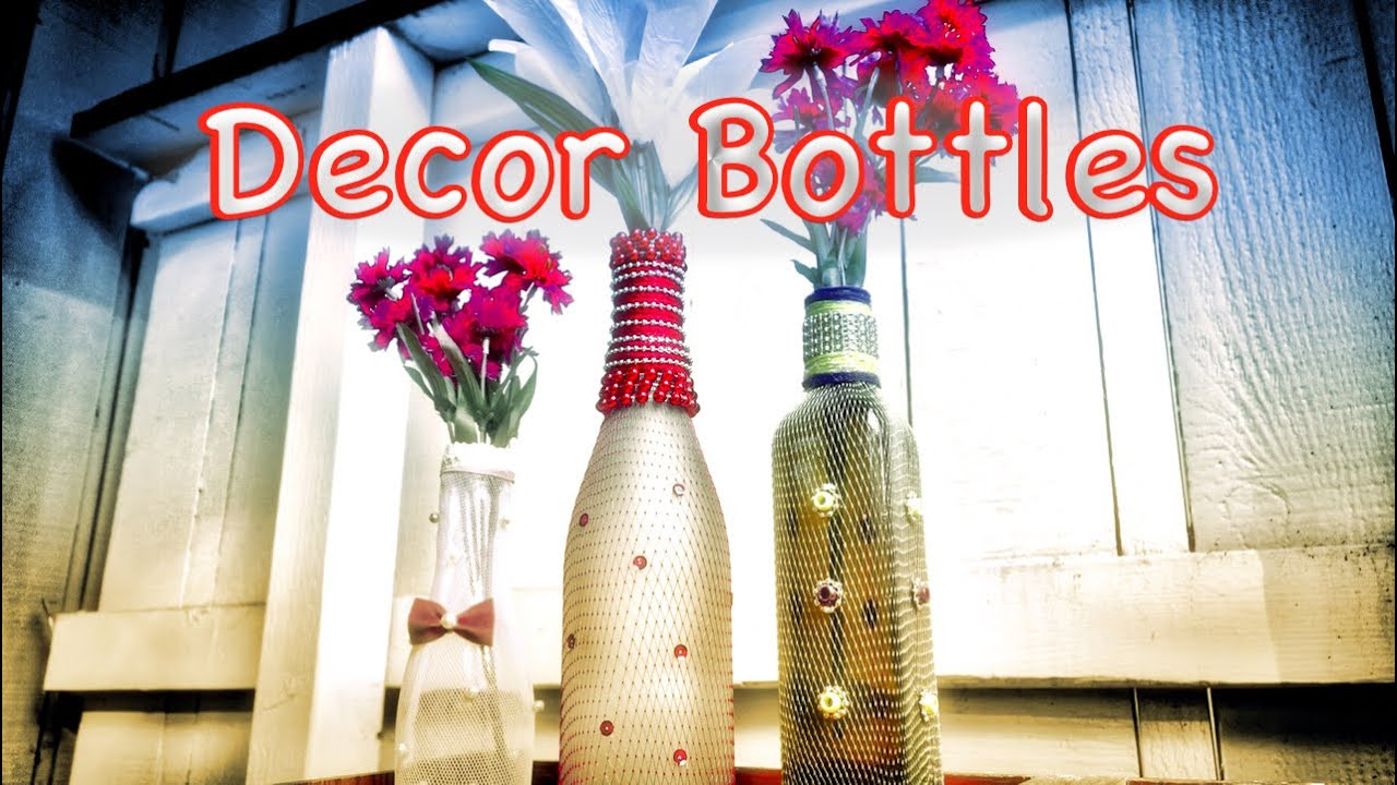 Diy home decor beautiful bottle crafts from recycled for Home decor using waste