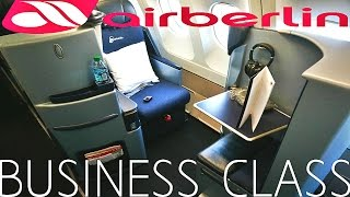 Air Berlin BUSINESS CLASS Los Angeles to Dusseldorf|A330