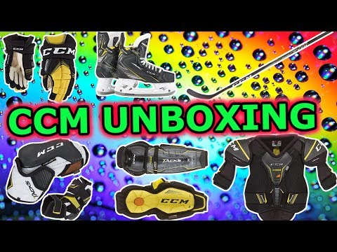Kids HocKey Epic Unboxing Of CCM Hockey Equipment Gear For CBanks