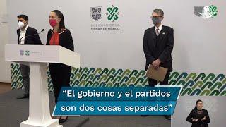Claudia Sheinabum, jefa de gobierno de la Ciudad de México declaró que ella no está involucrada en la encuesta para la dirigencia de MORENA