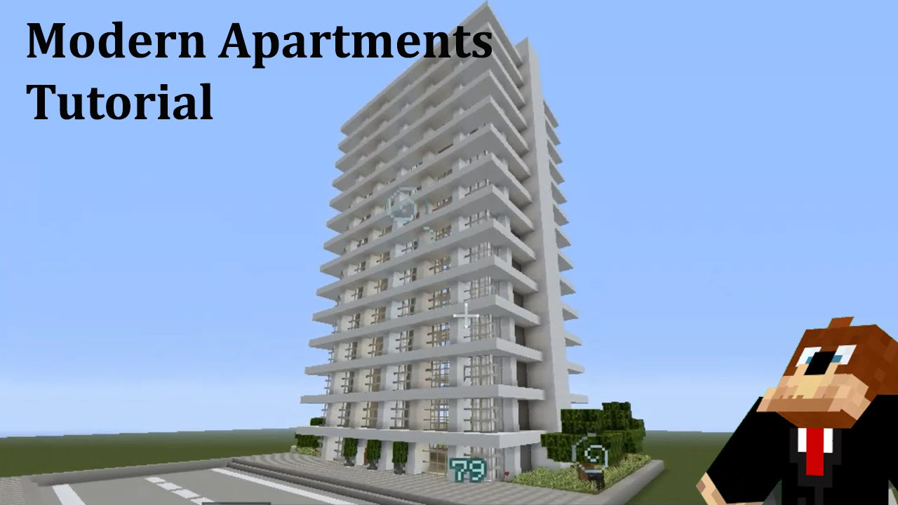 Modern Apartment Building Minecraft minecraft: modern apartments tutorial - youtube