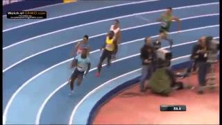 Nigel Levine 45 71 PB Defeats Luguelin Santos 400m British Indoor Grand Prix 2014