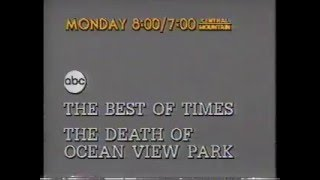 The Best Of Times & The Death Of Ocean View Park 1981 ABC Monday Night Movie Promo