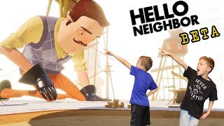 BIG BOSS FIGHT! Hello Neighbor Beta 3 Ending Twin Toys Kids Jumpscare