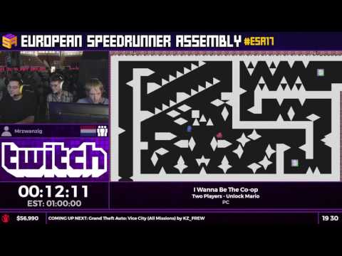 #ESA17 Speedruns - I Wanna Be The Co-op [Two Players - Unlock Mario] by Mrzwanzig and BBF