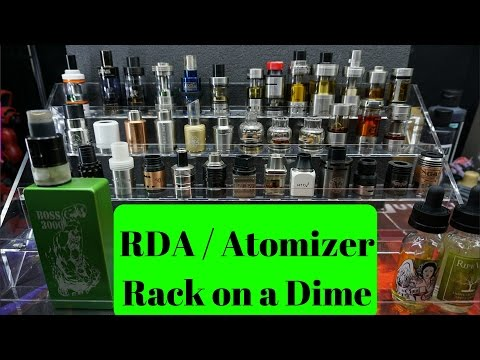 DIY RDA / Atomizer Rack On A Dime