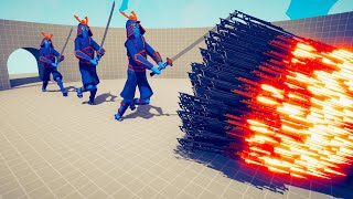 3x SAMURAI BROTHERS vs EVERY GOD   TABS - Totally Accurate Battle Simulator