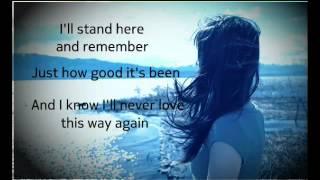 I'll Never Love This Way Again Dionne Warwick  W/ Lyrics