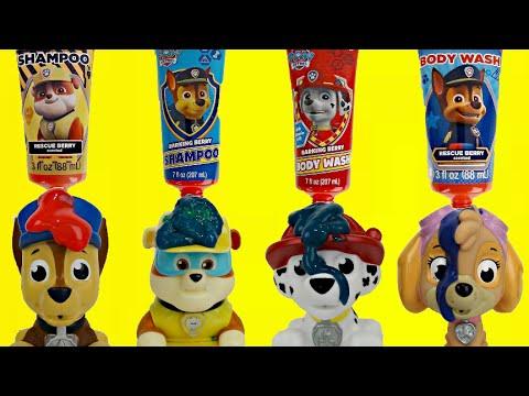 Nick Jr. Paw Patrol Bath Color Paint / Mer-Pups, Ryder, Chase, Everest, Skye, Toy Surprises / TUYC