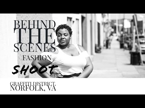 Behind the Scenes - Urban Fashion Shoot in Norfolk's Graffiti District