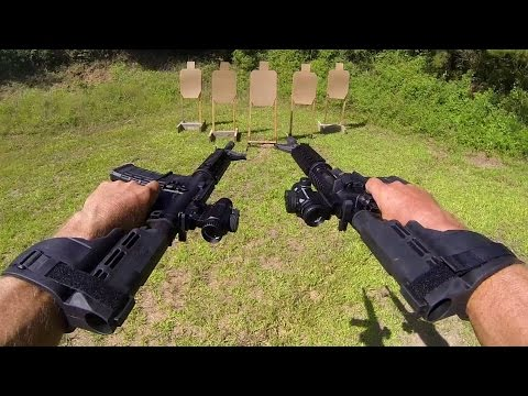 DUAL WIELD AR-15 V-Drill in 3 seconds in Slow Mo! | Sig Sauer M400 (Jerry Miculek)