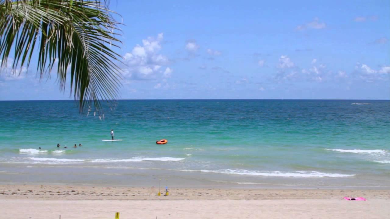 Relaxing Beach Scene Natural Audio YouTube