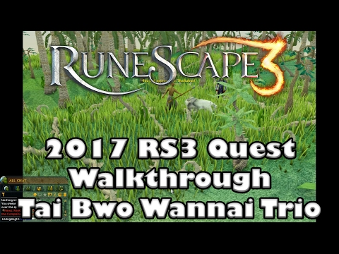 RS3 Quest Guide  - Tai Bwo Wannai Trio -  2017 Up To Date