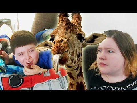 Kids React to Baby Giraffe Being Born