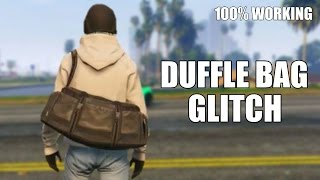 GTA 5 Online How To Get Black DUFFLE BAG Glitch 100% WORKING